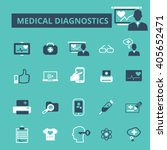 medical diagnostics icons  | Shutterstock .eps vector #405652471