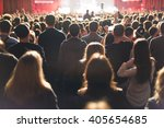 the audience watching the... | Shutterstock . vector #405654685
