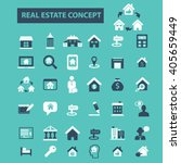 real estate icons  | Shutterstock .eps vector #405659449
