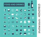 food and drinks icons  | Shutterstock .eps vector #405659815