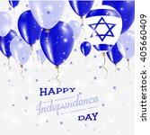 israel vector patriotic poster. ... | Shutterstock .eps vector #405660409
