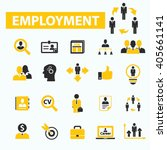 employment icons  | Shutterstock .eps vector #405661141