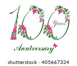 100 years anniversary. happy... | Shutterstock . vector #405667324