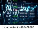 stock market chart represent in ... | Shutterstock . vector #405668785