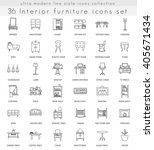 vector interior furniture ultra ... | Shutterstock .eps vector #405671434