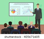 businessman expert giving... | Shutterstock .eps vector #405671605