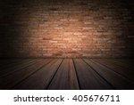 grunge room with wooden floor... | Shutterstock . vector #405676711
