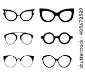 collection of various glasses.... | Shutterstock .eps vector #405678589