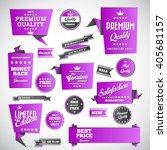 vintage labels set   origami... | Shutterstock .eps vector #405681157