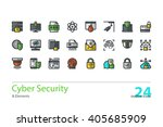 cyber security  data protection.... | Shutterstock .eps vector #405685909
