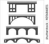 Vector Isolated Bridges Icons...