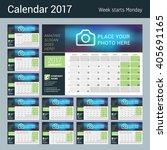desk calendar for 2017 year.... | Shutterstock .eps vector #405691165