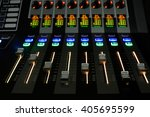 sound control with led backlight | Shutterstock . vector #405695599