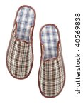 male slippers  isolated on... | Shutterstock . vector #40569838