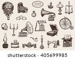 vintage objects vector graphic... | Shutterstock .eps vector #405699985