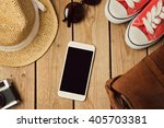 smartphone mock up template... | Shutterstock . vector #405703381
