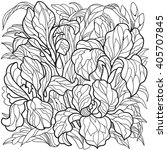 iris flowers. coloring page for ... | Shutterstock .eps vector #405707845