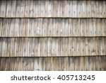 Horizontal View Of Wooden Roof.