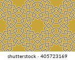 arabesque lines pattern with... | Shutterstock .eps vector #405723169