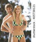 a teenage couple | Shutterstock . vector #405738121