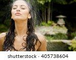 beauty portrait of a woman in a ... | Shutterstock . vector #405738604