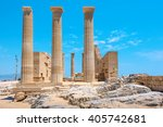 Temple Of Athena Lindia In The...