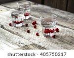 glasses of vodka with fresh...   Shutterstock . vector #405750217