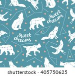 seamless pattern with star... | Shutterstock .eps vector #405750625