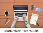 contemporary design desk... | Shutterstock . vector #405753805