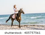 Beautiful Woman On A Horse....