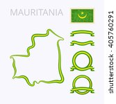 outline map of mauritania.... | Shutterstock .eps vector #405760291