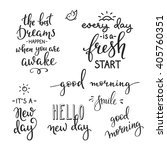 lettering quotes set motivation ... | Shutterstock .eps vector #405760351