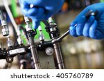 professional mechanic testing...