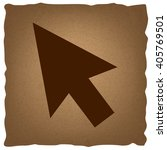 arrow sign. vintage effect