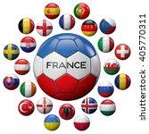 football 2016 uefa european... | Shutterstock . vector #405770311