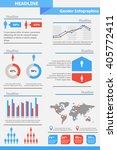 gender infographic template.... | Shutterstock .eps vector #405772411