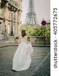 young bride standing in front... | Shutterstock . vector #405772675