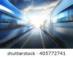 train station at sunset | Shutterstock . vector #405772741