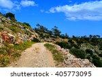 rocks on aegean sea | Shutterstock . vector #405773095