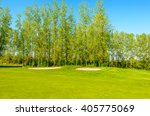 golf course with gorgeous green ... | Shutterstock . vector #405775069