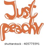 Just Peachy  Juicy Hand Drawn...