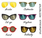types of sunglasses | Shutterstock .eps vector #405780769