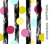 polka dots and stripes.... | Shutterstock .eps vector #405791041