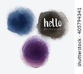 watercolour vector circles...   Shutterstock .eps vector #405794341