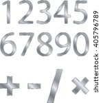 silver numbers  signs of... | Shutterstock .eps vector #405796789