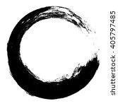 grunge circle frame  vector... | Shutterstock .eps vector #405797485