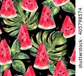 exotic summer watercolor...   Shutterstock . vector #405798574