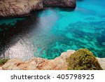 the blue lagoon on comino... | Shutterstock . vector #405798925