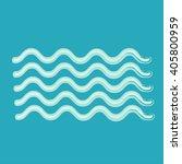 waves icon | Shutterstock .eps vector #405800959