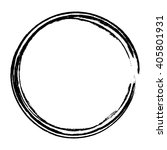 grunge circle frame  vector... | Shutterstock .eps vector #405801931
